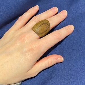 Wooden walnut ring